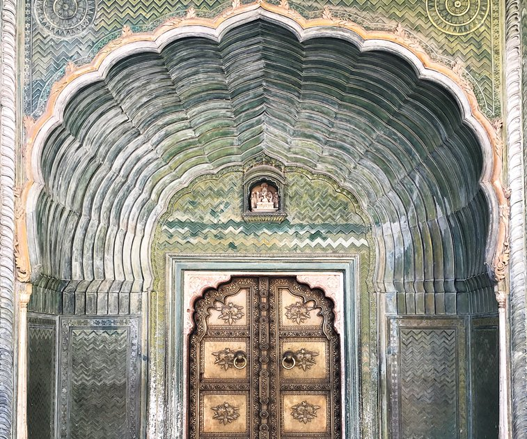 Intricate carving in a haveli