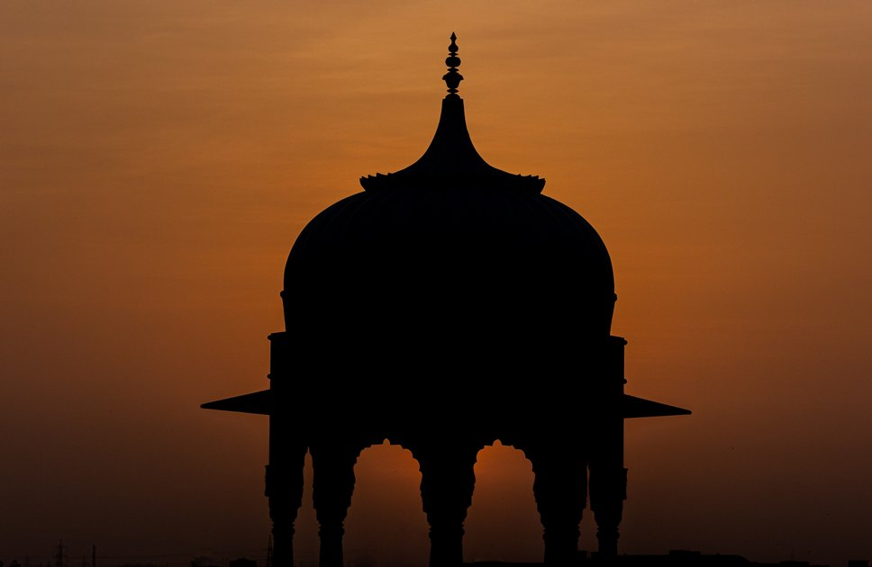 Silhouette of a beautiful dome