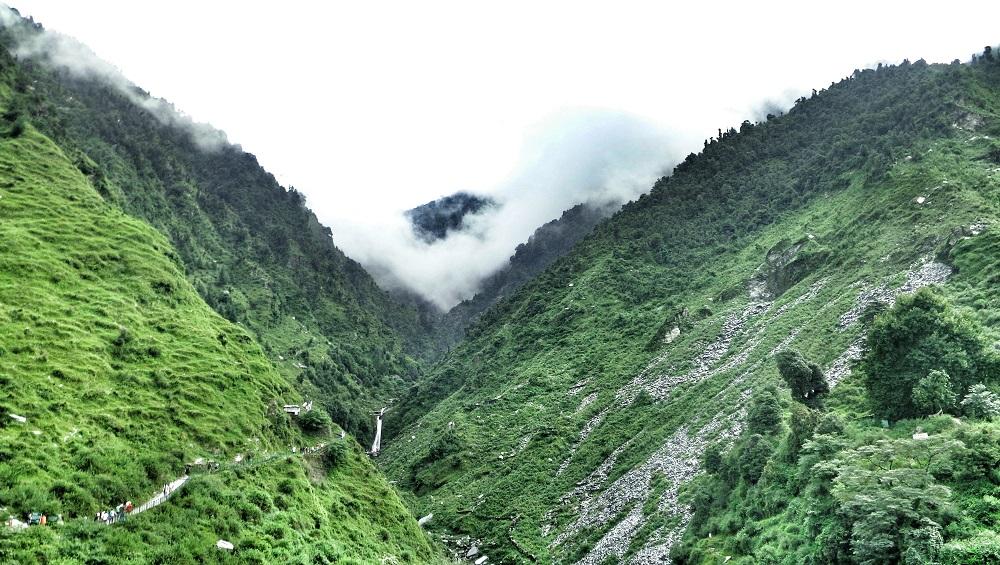 Lush green mountains of Dharamshala